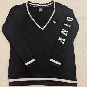 VS PINK Vintage VNeck Sweater sz SM
